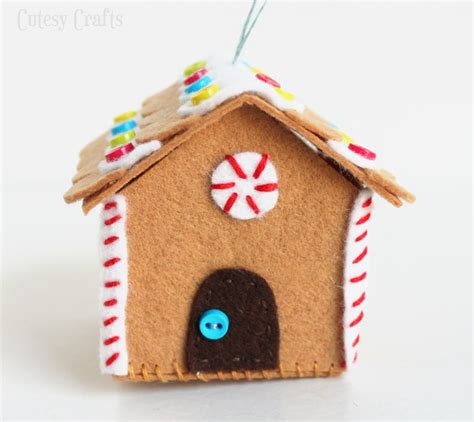 felt gingerbread template felt gingerbread house ornament cutesy crafts