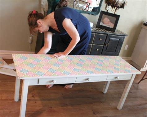 How To Decoupage On Furniture - how to decoupage furniture with modge podge tutorial