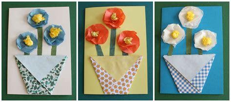 fiori con carta velina mamma gioca tutorial biglietto con vaso origami per la