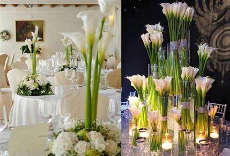 centrotavola candele matrimonio centrotavola con le calle per il matrimonio foto