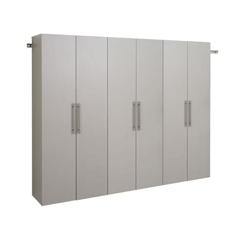 Wall Mounted Cupboards - prepac hangups 72 in h x 90 in w light gray wall mounted