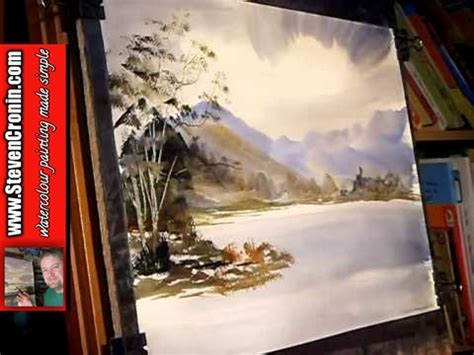 watercolor lake tutorial watercolour painting tutorial buttermere lake district