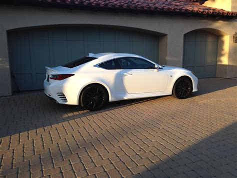 lexus rc 350 matte black ultra white with matte black wheels pics