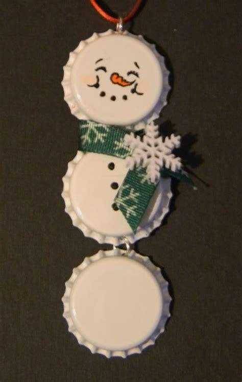 snowman bottle cap ornament grandpa always loved