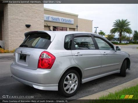 2006 kia spectra spectra5 hatchback in clear silver photo