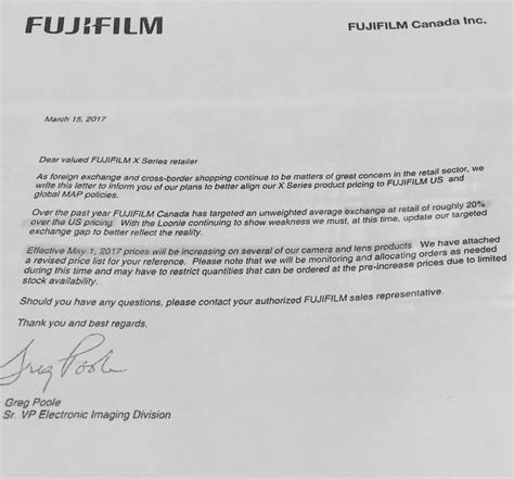 fujifilm prices fuji price increase in canada leica price increase in the