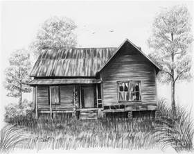 house drawing abandoned house drawing by lena auxier