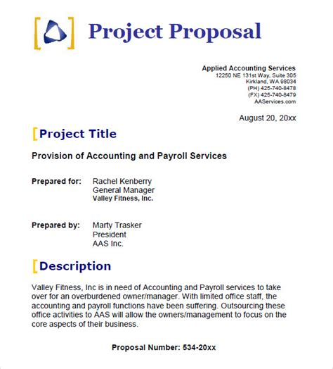 project proposal layout sle 25 free business proposal templates sle templates