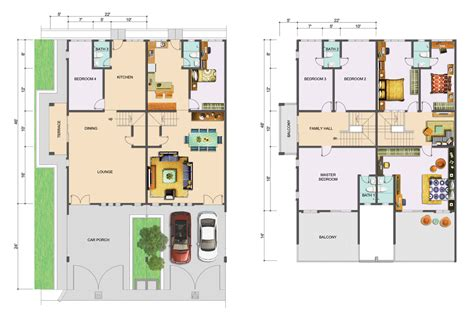 home design story level up two story house floor plans numberedtype