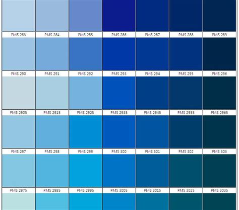 colors of blue the gallery for gt pantone color chart blue