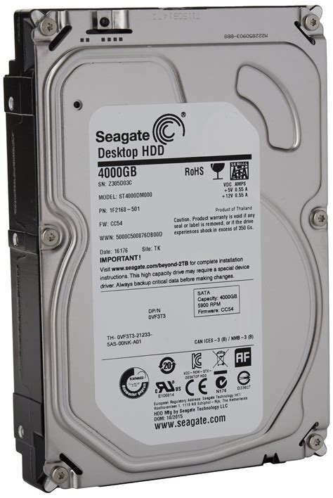 Drive 3 5 Inch Seagate seagate sata 6gb s 3 5 inch 4tb desktop hdd