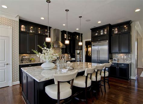 dark cabinets light countertops 30 classy projects with dark kitchen cabinets home