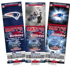 printable nfl tickets custom football invitations birthday party invitations