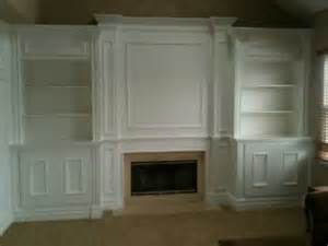 Built In Bookcases Around A Fireplace Fireplace Mantel With Surrounding Built Ins All Created
