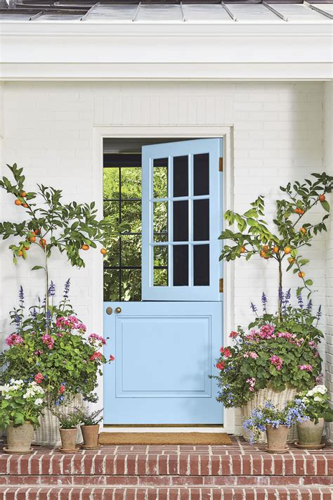 bold front door colors southern living