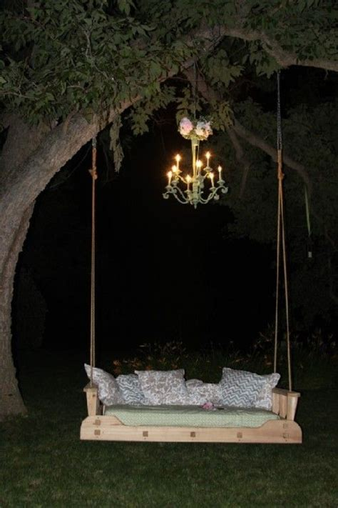 swing by the chandelier diy swing bed for back yard i want this in my backyard