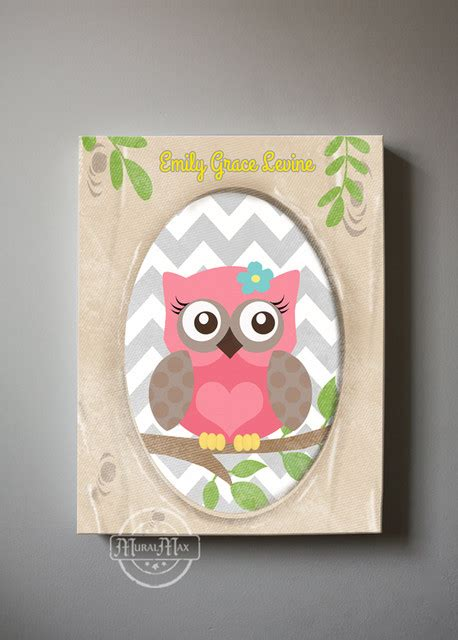 Owl Wall Decor For Nursery Owl Decor Wall Owl Canvas Baby Nursery Owl Woodland Whimsical Modern