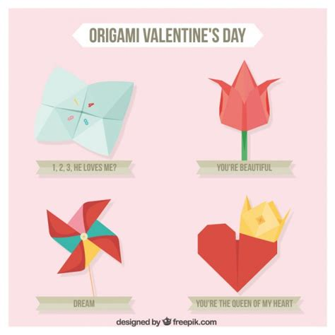 World Origami Day - origami elements pack vector free