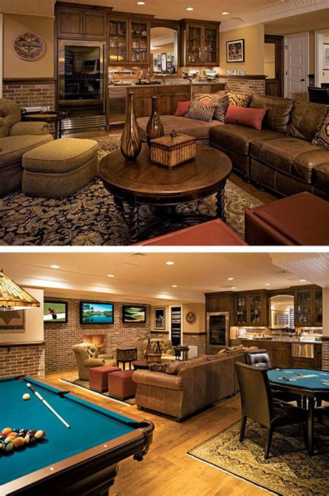 for basement rec room basement rec room aka cave the picture is feminine but i like the room furniture
