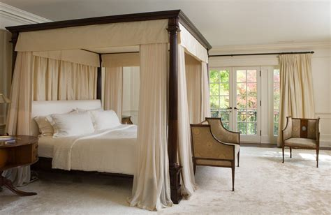 Custom made curtains bedroom traditional with beige chair and drapes