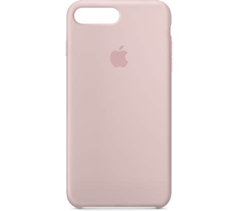 buy apple silicone iphone   case pink sand  delivery currys