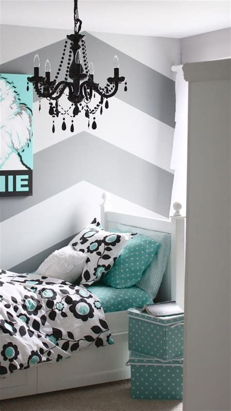 cute chevron wallpaper girl bedroom home decorating