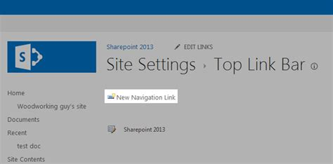 sharepoint top link bar how to add links to the top link bar in sharepoint
