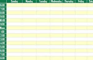 weekly schedule planner template calendar template 2016
