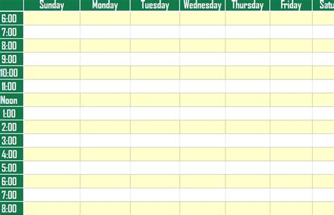 weekly schedule planner template weekly schedule planner template weekly schedule planner