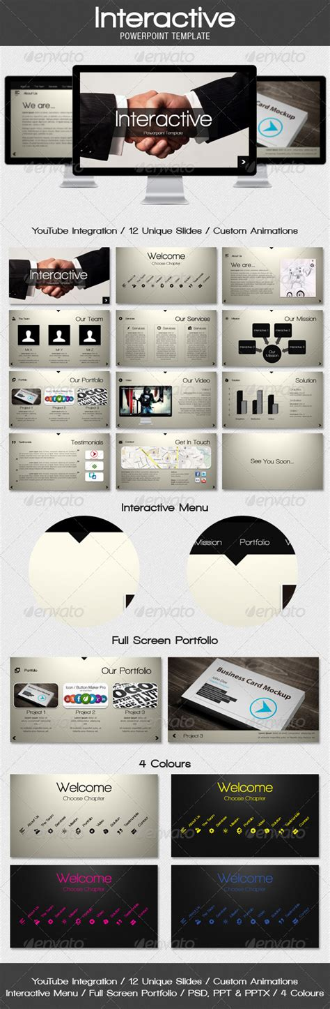 Interactive Powerpoint Template Graphicriver Interactive Powerpoint Templates
