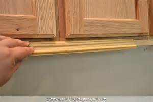 Kitchen Cabinet Bottom Trim Wall Of Cabinets Installed Plus How To Install