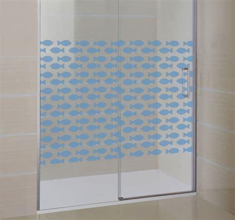 adesivi per doccia adesivo box doccia pesci tenstickers
