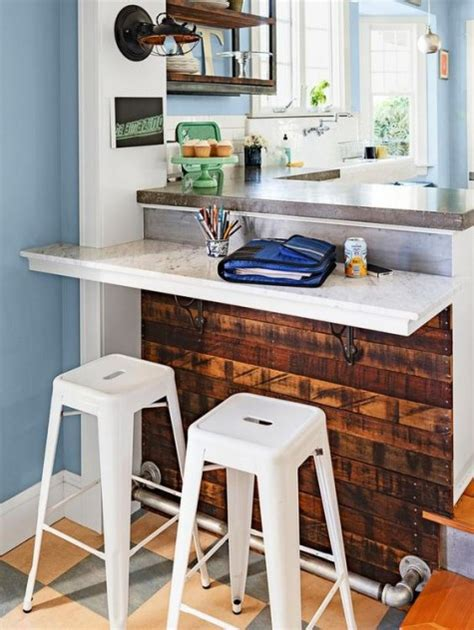 small kitchen island with stools 2018 25 breakfast bar ideas for tiny kitchens comfydwelling