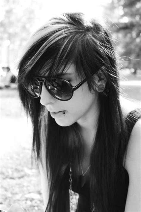emo hairstyles black and white hair on pinterest emo hair emo hairstyles and goth hair