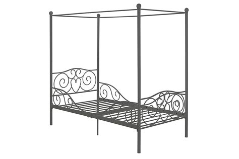 twin size canopy bed frame canopy metal bed frame twin size silver rochester