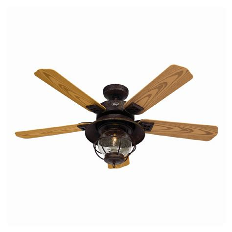 lowes kitchen ceiling fans shop hunter 52 quot northshore rustic bronze ceiling fan at