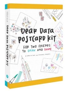 dear dwayne with books dear data postcard kit for two friends to draw and
