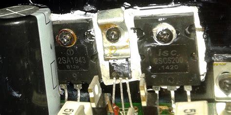 transistor de potencia quemado yoreparo