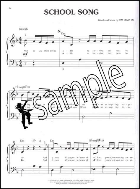 my house matilda lyrics matilda the musical big note piano selections sheet music book