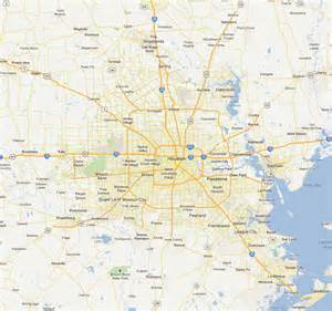 houston map and surrounding areas coverage map