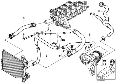 bmw e46 cooling system diagram original parts for e46 318d m47 touring engine cooling