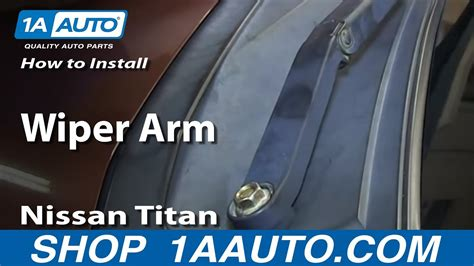 install replace wiper arm   nissan titan