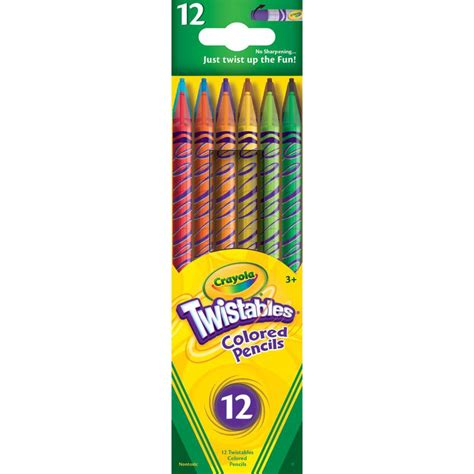 crayola twistable colored pencils crayola twistable colored pencils 12 count 68 7408 color