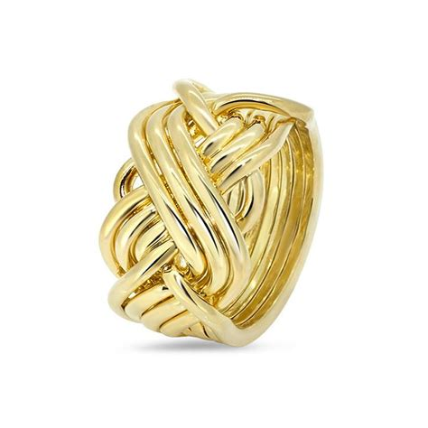 mens gold 8t3 m puzzle rings creations