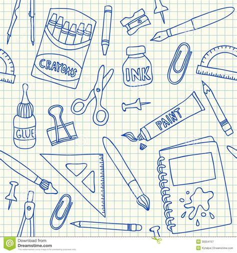 Pattern Paper School   school supplies seamless pattern royalty free stock