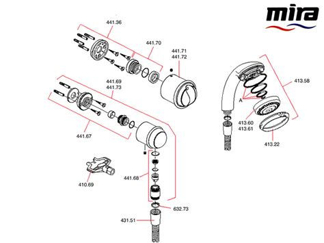 Mira Shower Spare Parts by Mira Aquations Bif Shower Spares And Parts Mira