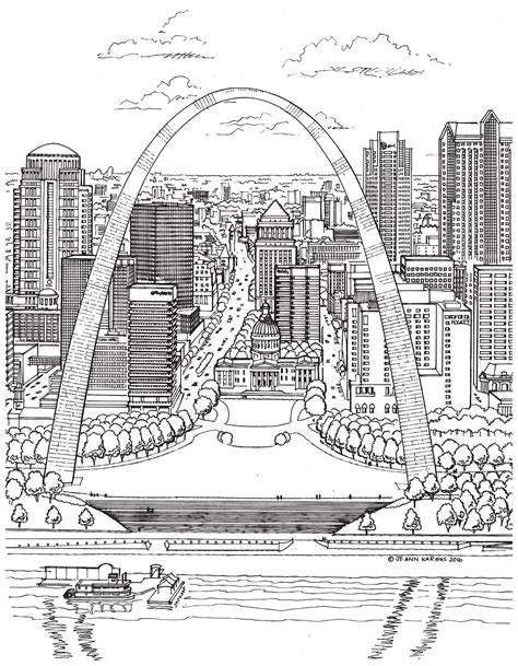 New Adult Coloring Book Shows the Beauty of St. Louis