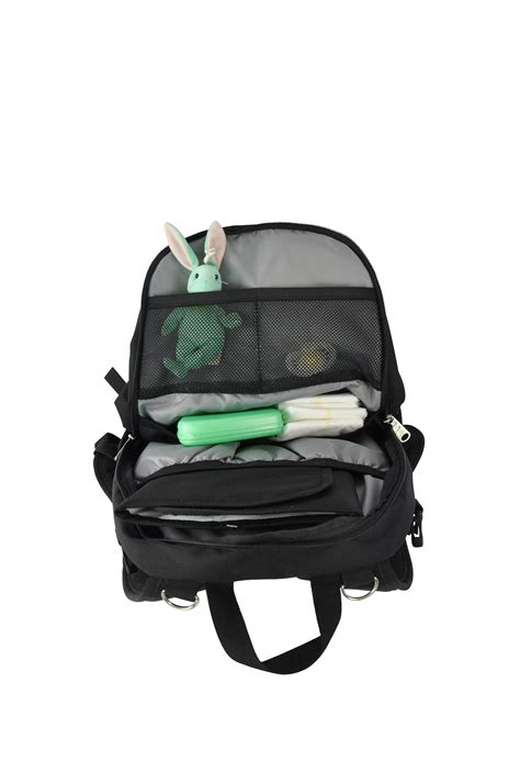obersee bag backpack with detachable cooler black black baby
