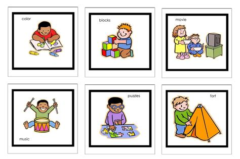 printable visual schedule pictures visual schedule pictures free printable visual schedules