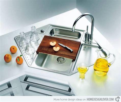 corner kitchen sink designs 15 cool corner kitchen sink designs home design lover